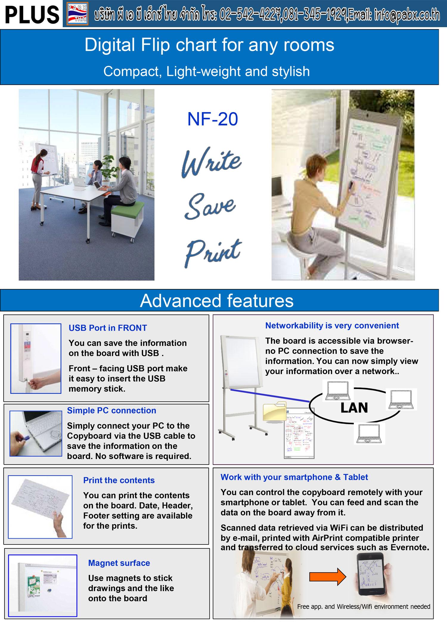 Plus NF-20  Electronic Copyboard Board กระดานอิเล็กทรอนิกส์อัจฉริยะ